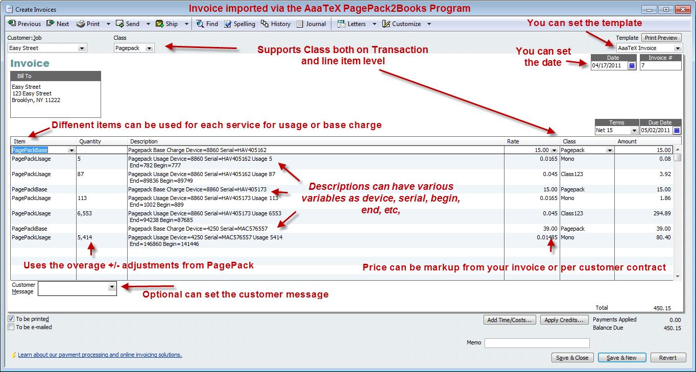 Xerox PagePack to QuickBooks